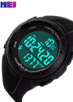 Часы SKMEI 1108 Black с шагомером