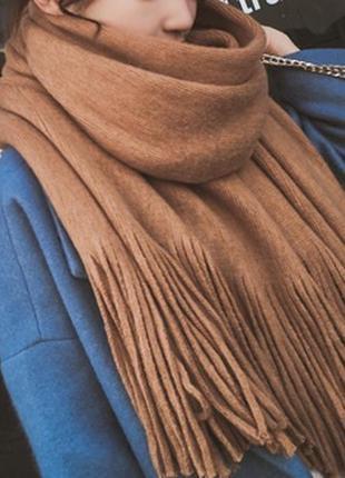 Стильний теплий шарф, накидка, палантин, платок 780