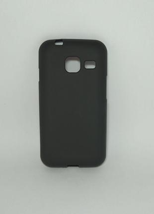 Задня накладка Samsung J1 mini /Galaxy J105 чорний силікон