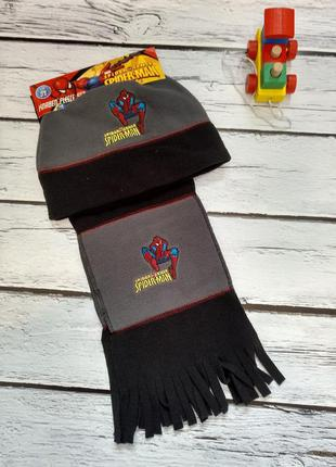 Шапка шапочка человек паук людина павук шарф комплект набор на...
