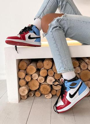 Кроссовки jordan 1 retro high blue red  крутые и яркие джордан...