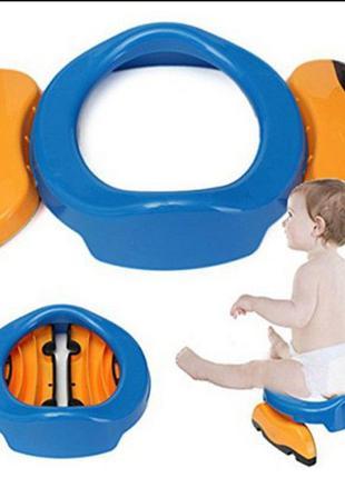 Детский дорожный горшок Potette Plus+силиконовая вставка