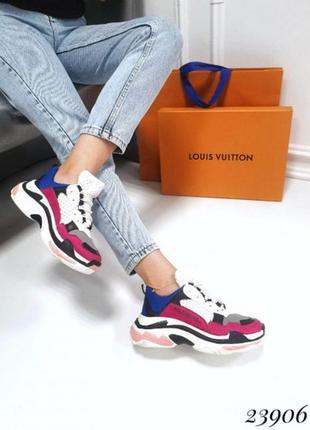 Массивные кроссовки в стиле balenciaga, разноцветные кроссовки...