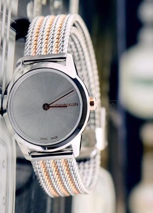 - 50% | женские швейцарские часы calvin klein minimal k3m23b...