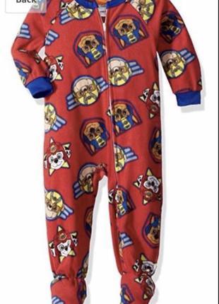 Флисовая пижама человечек комбинезон щенячий патруль nickelode...