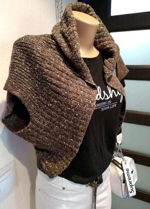Стильное теплое болеро кофта пиджак блузка