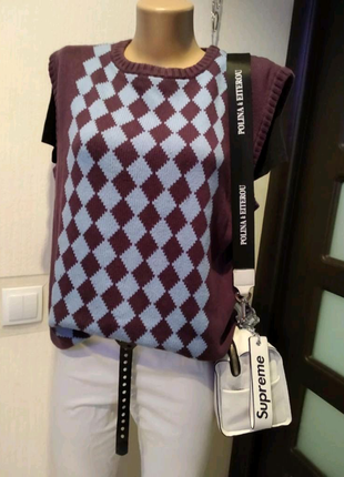 Стильная брэндовая жилетка кофта джемпер свитер