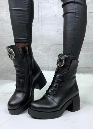 Топ продаж😍 зимние ботинки из натуральной кожи