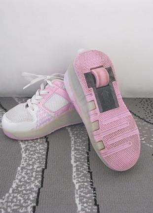 Hellys кроссовки роликовые колоботы на колесиках скейт ролики 32