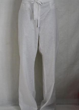 Белые брюки штаны лен +вискоза, 14 р.