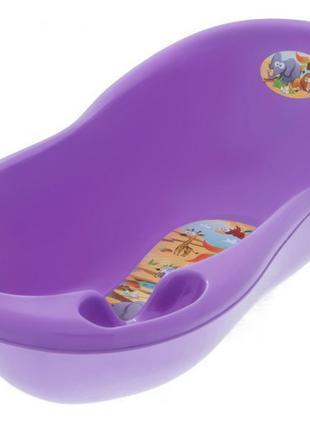 """Детская ванночка Tega Baby большая 102 см """"Сафари"""" Фиолетовый"""