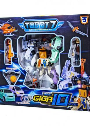 Трансформер q 1905 Тобот Гига 10 робот+маш 7 шт Tobot Giga 10 7