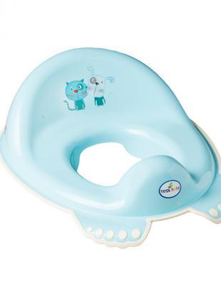 Накладка на унитаз Tega Baby антискользящая Пес+Кот Голубой