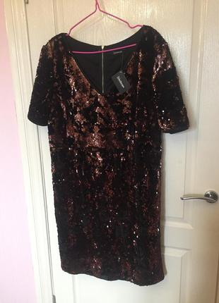 Новое блестящее платье, нарядное, паетки, пайетки, бархат, вел...
