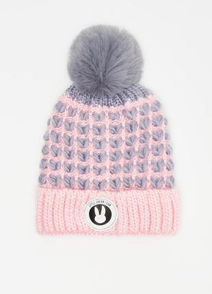 🌿тёплая зимняя шапка sinsay