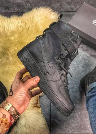 Крутые мужские кроссовки nike air force special field black