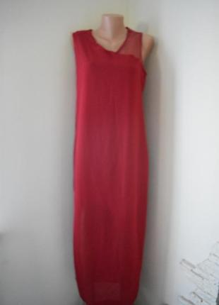 Новое длинное красное платье