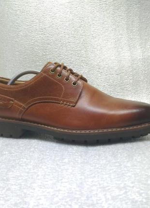 Кожаные туфли clarks montacute hall 44р