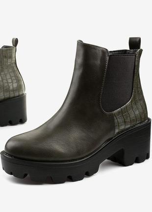 Серые ботинки из эко-кожи established