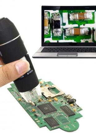 Электронный микроскоп USB 1600 крат на подставке, новый в коробке