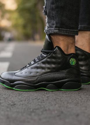 "Air Jordan 13 Retro ""Black/Altitude Green"""
