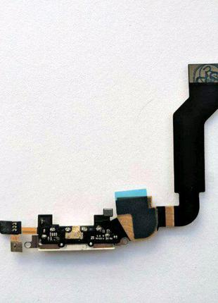 Шлейф для iPhone 4S, с разъемом зарядки, с микрофоном, черный