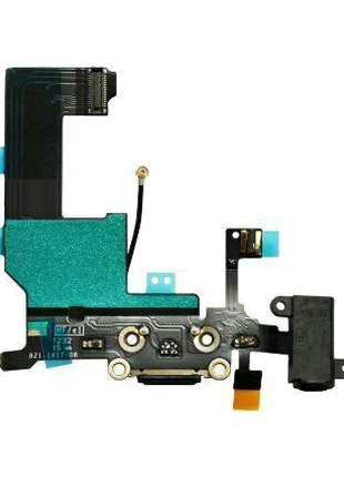 Шлейф для iPhone 5S, с разъемом зарядки, с коннектором наушников,