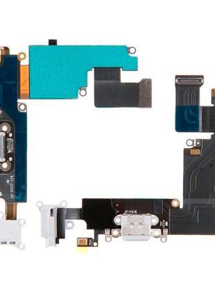 Шлейф для iPhone 6S, с разъемом зарядки, с коннектором наушников
