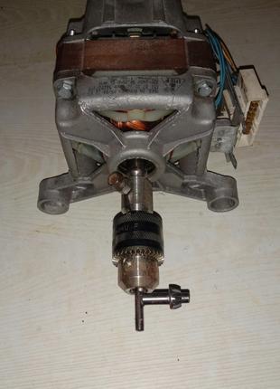 Мотор от стиральной машины переделаный.