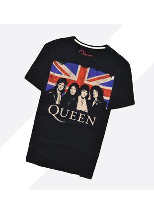 Queen l / чёрная насыщенная футболка мерч с огромным принтом р...