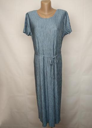 Платье красивое жатка под пояс uk 14/42/l