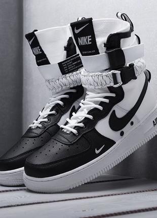 Nike SF Air Force 1 (бело/черные)