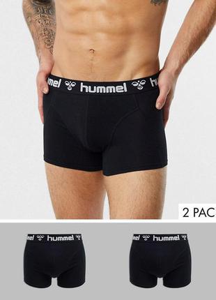Набір 2 шт боксерки hummel труси чорні s m l xxl nike adidas puma
