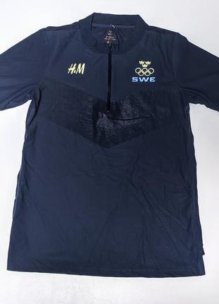 H&m редкая олимпийская спортивная футболка сборной швеции