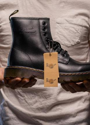 Ботинки без меха с логотипом dr. martens 1460 black арт: 035