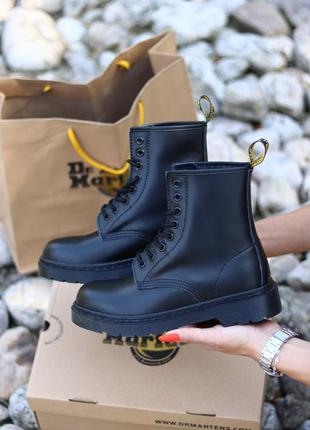 Ботинки без меха без логотипа dr.martens 1460 mono black