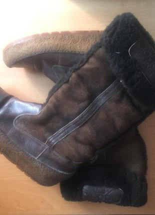 Сапоги сапожки зимние теплые кожаные натуральный мех