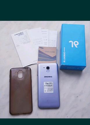 Samsung Galaxy J6 2018 J600F 2/32Gb Lavenda стеклом и чехлом