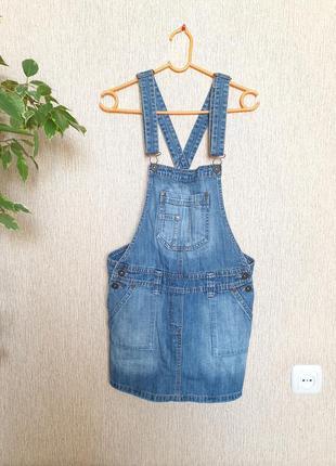 Крутой джинсовый сарафан, комбинезон юбка denim от love