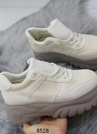 Бежевые кроссовки в стиле буффало, бежевые кроссовки на высоко...