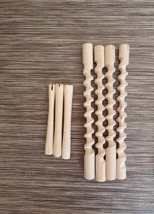 Деревянные бигуди-коклюшки, бигуди-спиральки