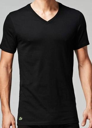 Базовая футболка с v-образным вырезом от lacoste, оригинал