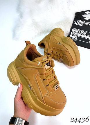 Массивные кроссовки в стиле буффало, кроссовки на высокой подо...