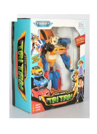 Трансформер 515 Тобот Тритан, робот + 3 маш Tobot Tritan X Y Z