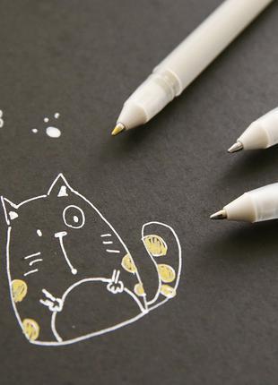 Белая гелевая ручка Sakura Gelly Roll 0.8 (0,4мм) линер скетч сон
