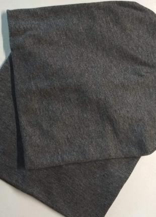 Комплект шапка и хомут 4-8 лет 53-55 см тёмно серый