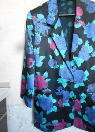 #st michael#made in uk#винтажный жакет в цветочный принт # рос...