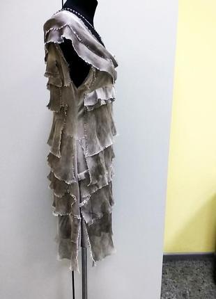 Трикотажное платье тай дай шелк италия р м