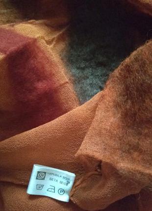Эксклюзивный шарф -палантин meier suede шелк-валяная шерсть