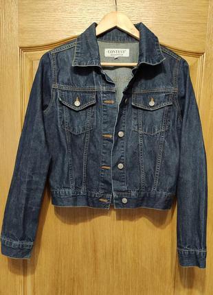 Contest укороченная джинсовая куртка, пиджак, джинсовка